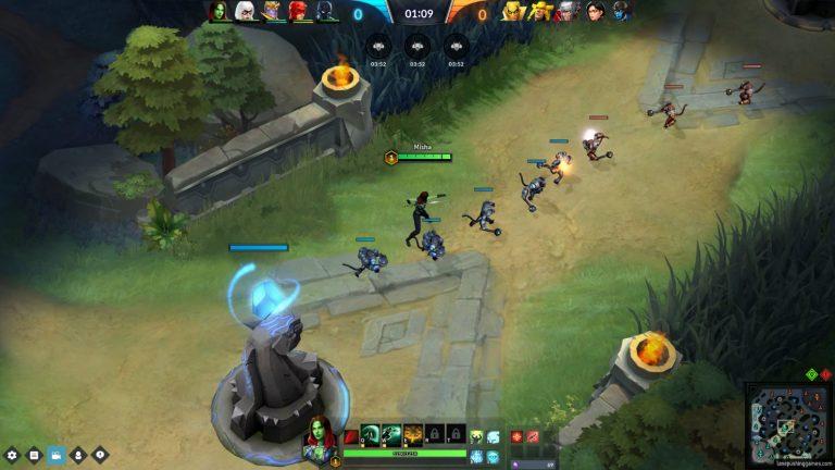 Lane-Pushing Games — Marvel End Time Arena