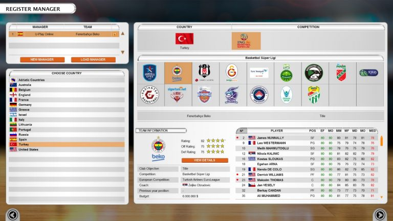 Save 20% on International Basketball Manager on Steam